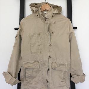 ✂️ CAbi Nanook Khaki Tan Utility Jacket w Hood